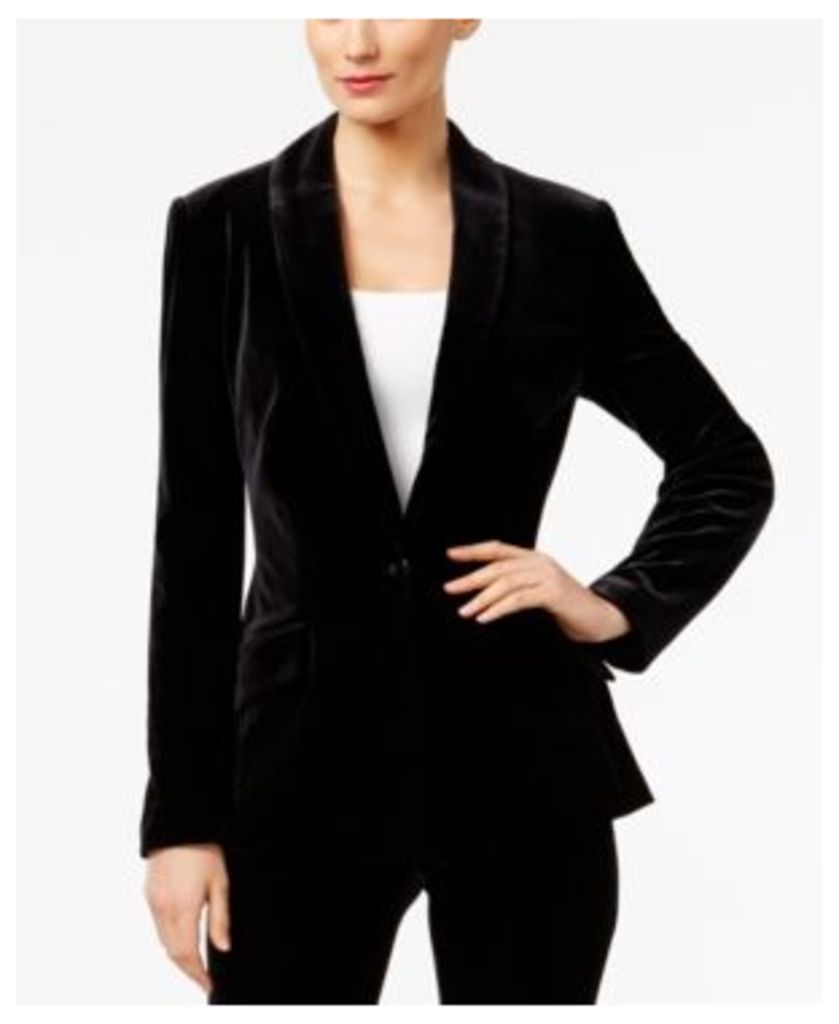 Inc International Concepts Velvet One-Button Blazer, Only at Macy's