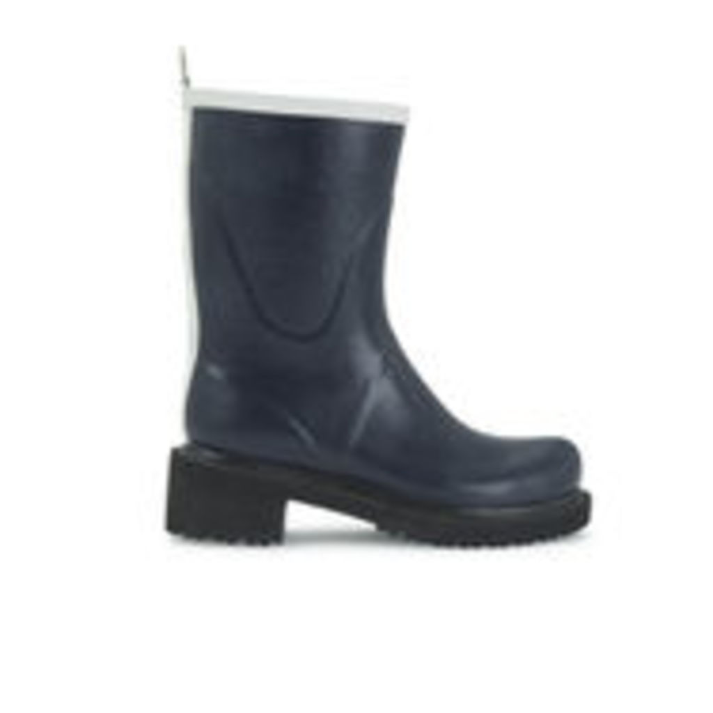 Ilse Jacobsen Women's Contrast Short Rubber Boots - Dark Indigo - UK 8