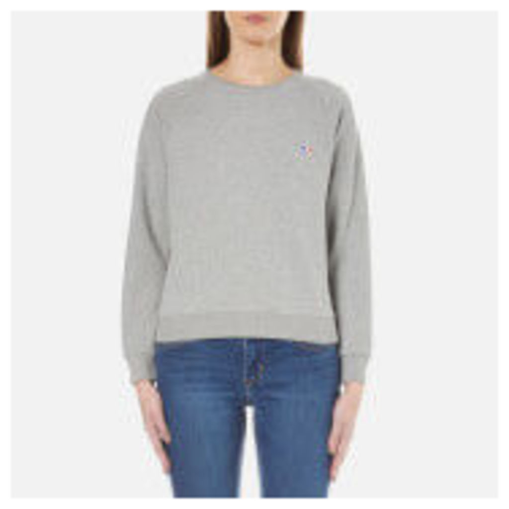 Maison Kitsune Women's Fox Patch Sweatshirt - Grey Melange - L