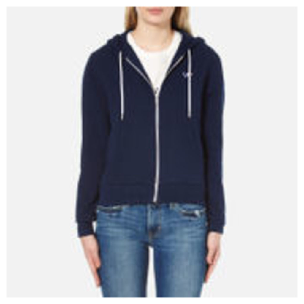 Maison Kitsune Women's Fox Patch Zip Hoody - Dark Blue - L