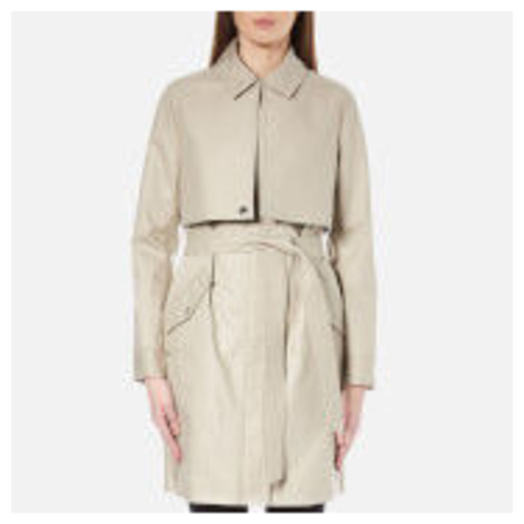 Karl Lagerfeld Women's Ikonik Belted Trench Coat - Cream - IT 42/UK 10