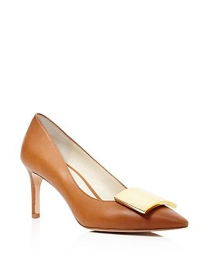 Bettye Muller Amuse Pointed Toe Mid Heel Pumps