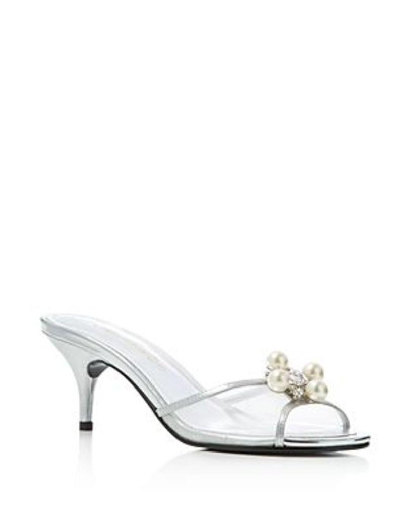 Caparros Culver Metallic Mid Heel Slide Sandals