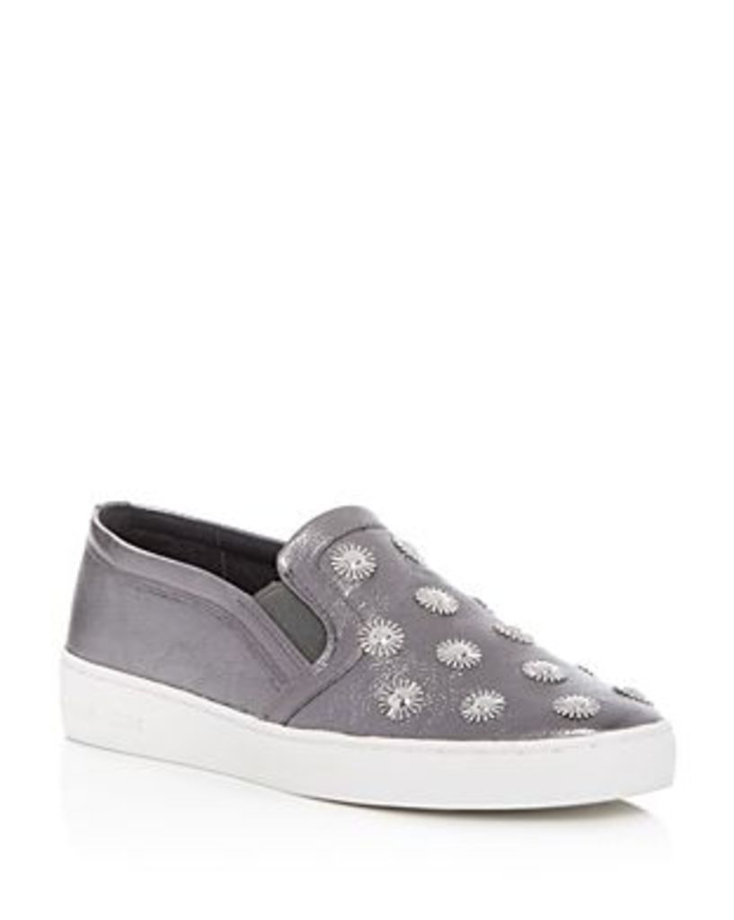 Michael Michael Kors Leo Metallic Embellished Slip On Sneakers