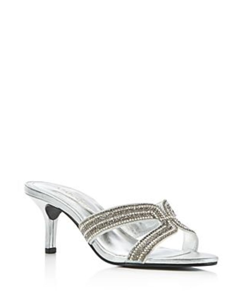 Caparros Cynthia Metallic High Heel Slide Sandals