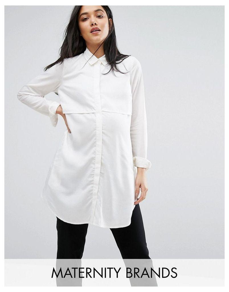 Mamalicious Woven Tunic - White