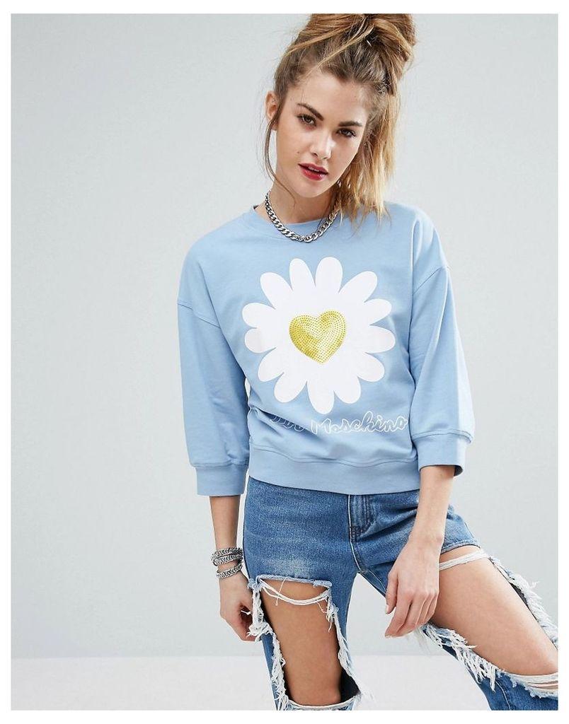 Love Moschino Daisy Sweatshirt - Azure