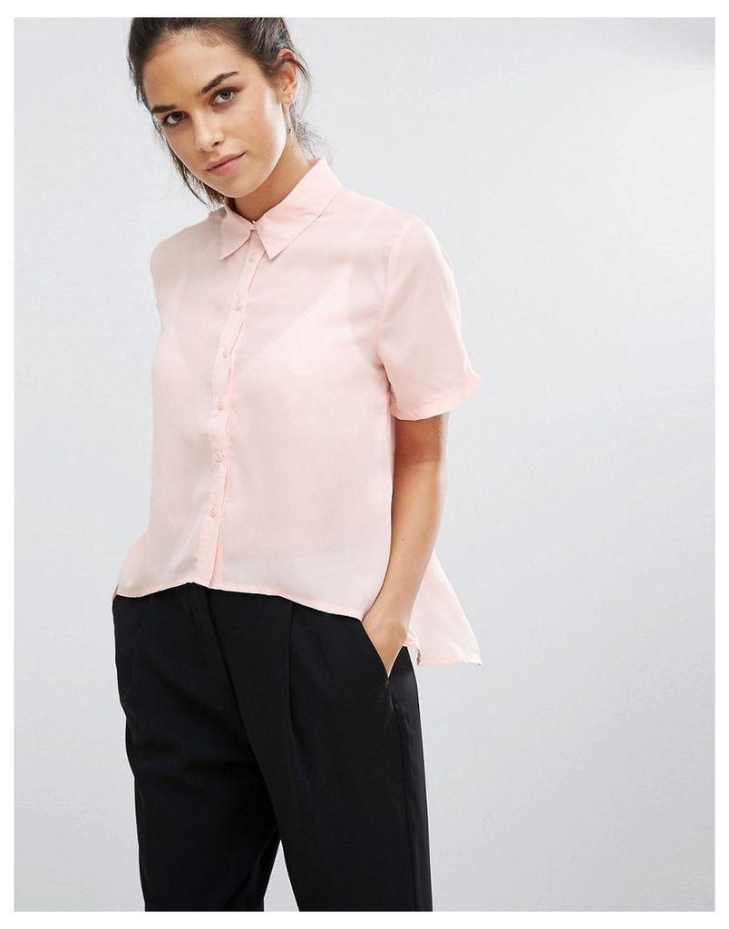 Daisy Street Short Sleeve Shirt - Nude
