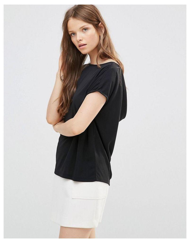 Selected Meryl Short Sleeve Top - Black