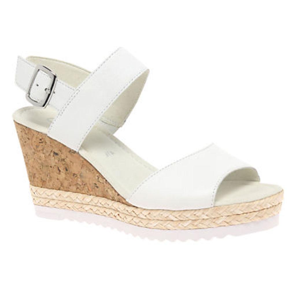 Gabor Wicket Wedge Heeled Sandals, White