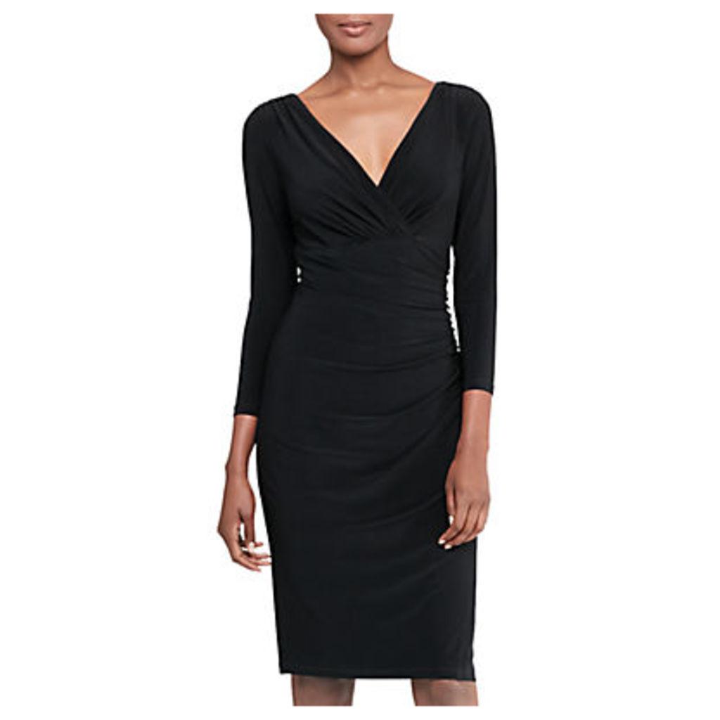 Lauren Ralph Lauren Jersey Surplice Dress, Black