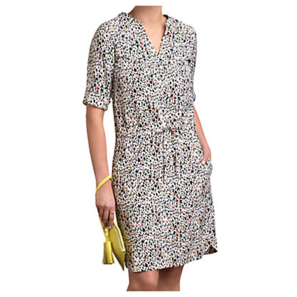 Pure Collection Silk Drawstring Dress, Multi