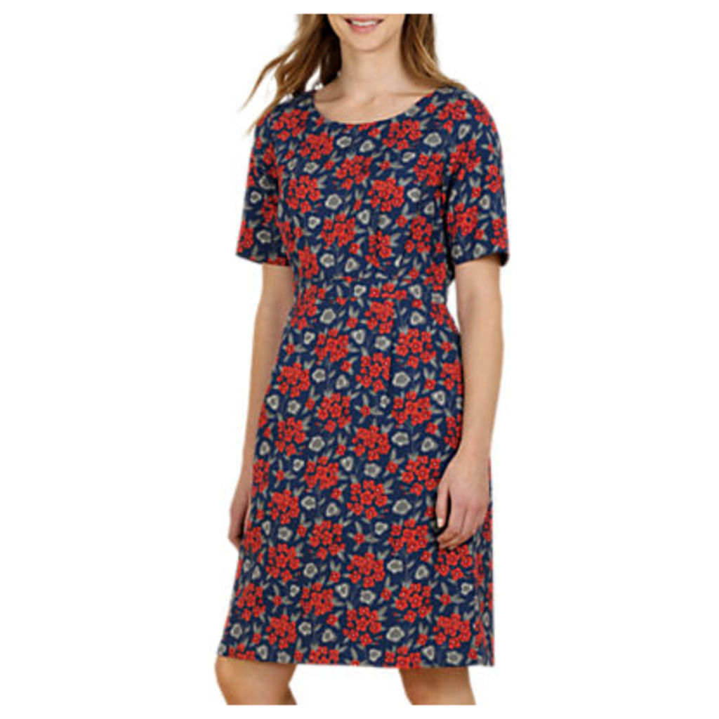 Seasalt Wild Bluebell Dress, Geranium Brick