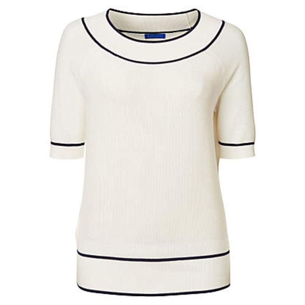 Winser London Cotton Bardot Short Sleeve Knitted Top