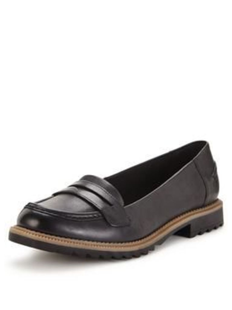 Clarks Clarks Wide Fit Griffin Milly Leather Loafer