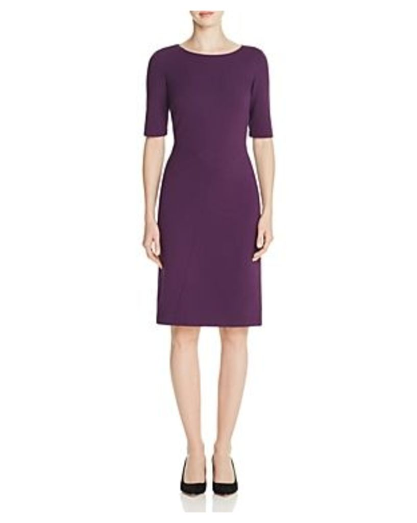 Lafayette 148 New York Asymmetric Seamed Sheath Dress