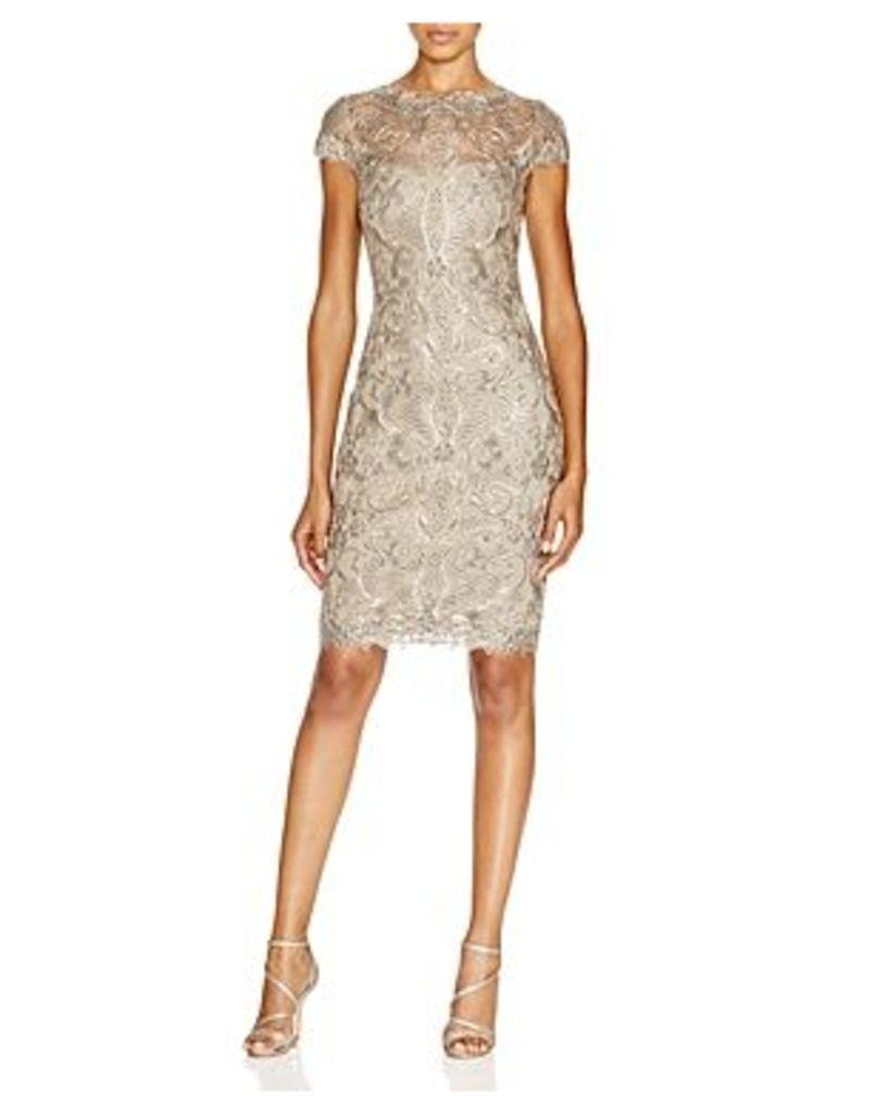 Tadashi Shoji Corded Tulle Lace Sheath Dress