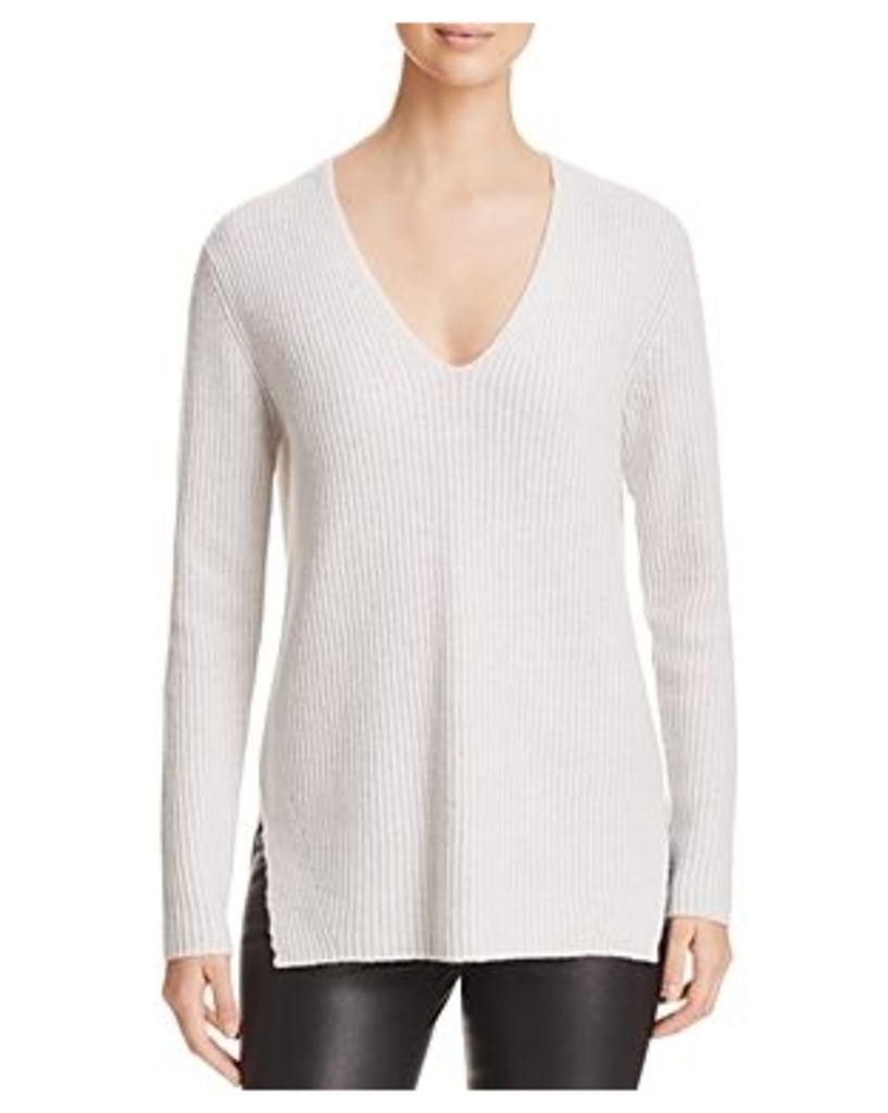 C by Bloomingdale's Deep-v Wool-Blend Sweater