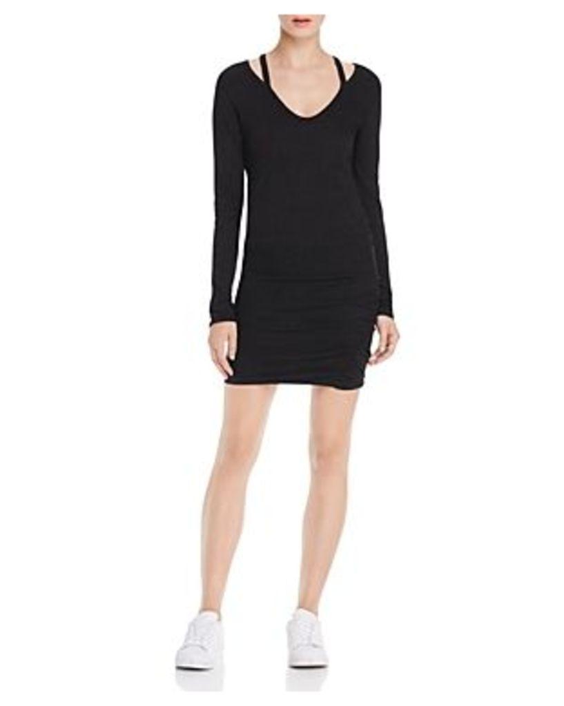 Pam & Gela Split V-Neck Dress