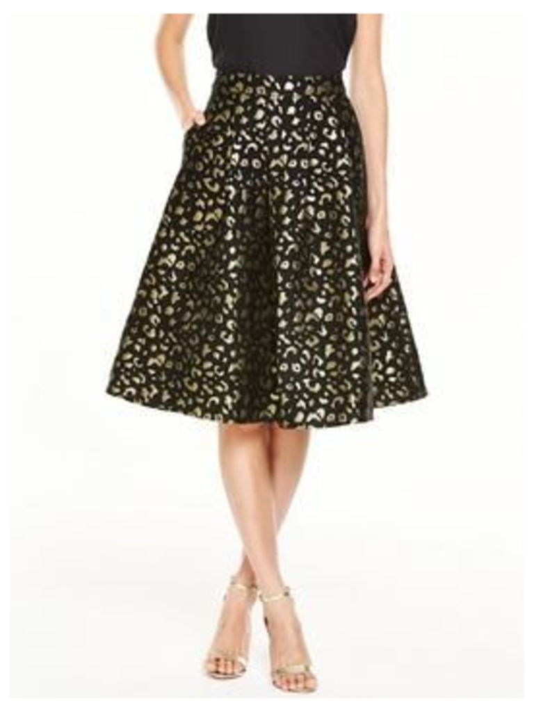 V By Very Animal Jacquard Full Skirt