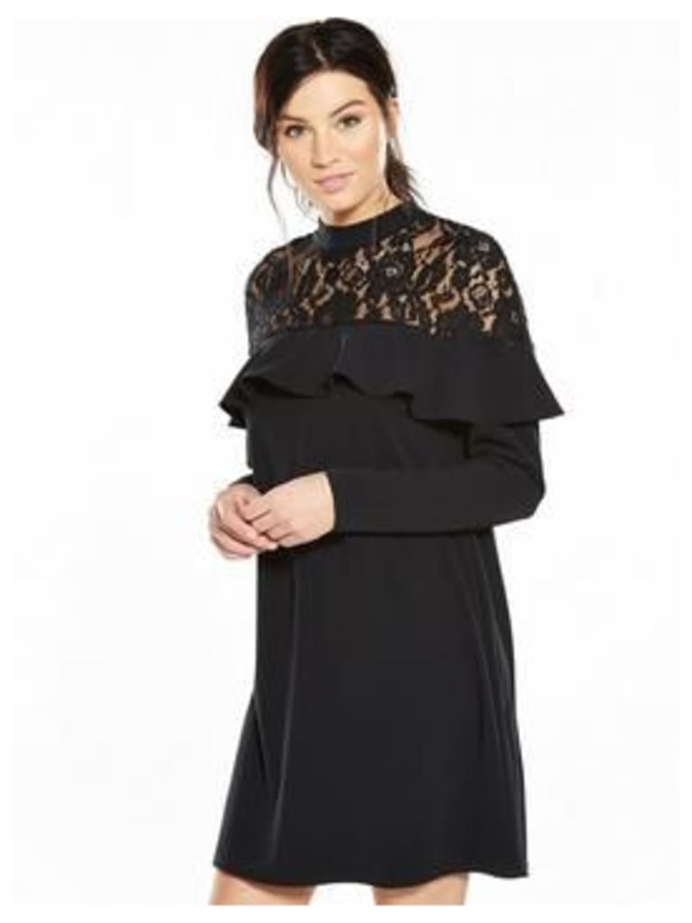 V By Very Lace Neck Shift Dress