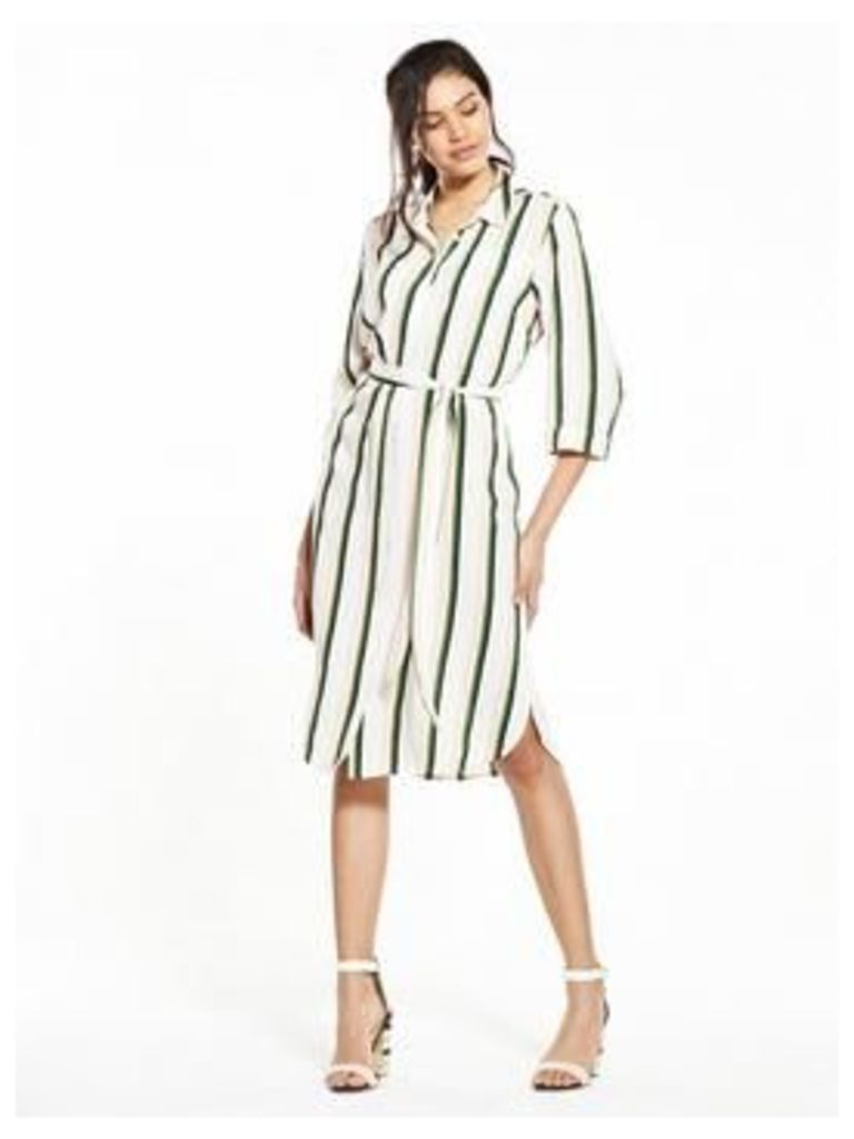 V By Very Stripe Shirt Dress