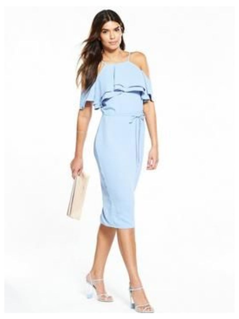 V By Very Cold Shoulder Midi Dress