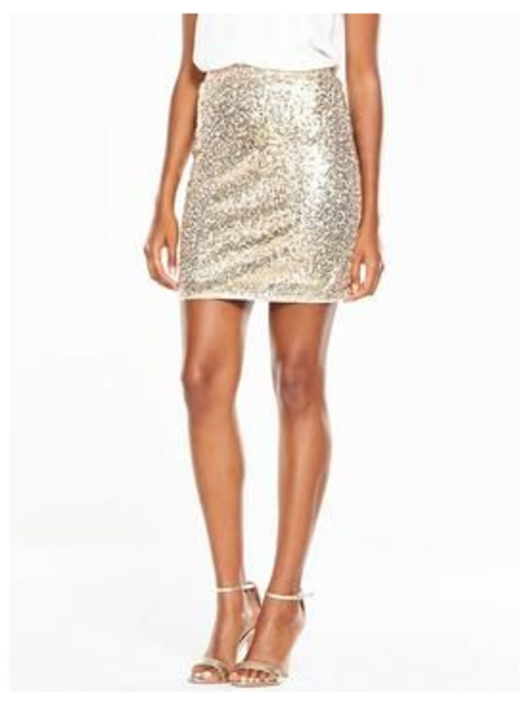 V By Very Sequin Mini Skirt