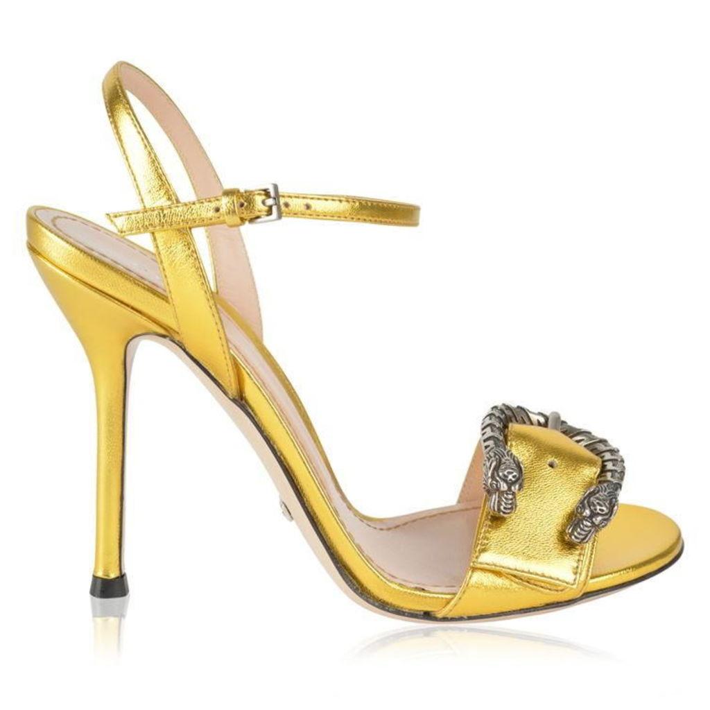GUCCI Dionysus Metallic Heels