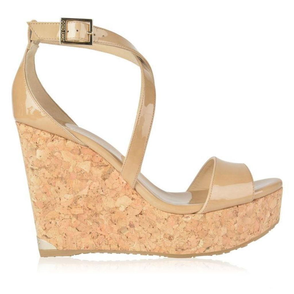 JIMMY CHOO Portia 120 Wedge Sandals