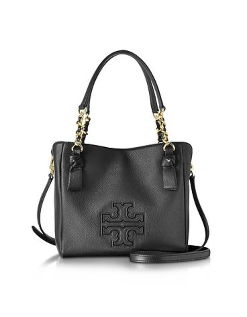 Tory Burch - Harper Black Leather Small Satchel Bag