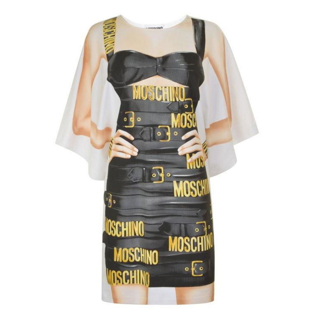 MOSCHINO Wrap Belt Body Dress