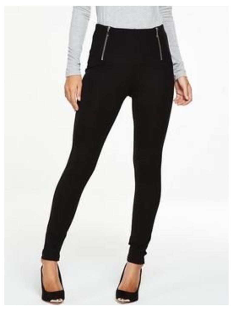 V By Very Tall Zip Waist Ponte Leggings