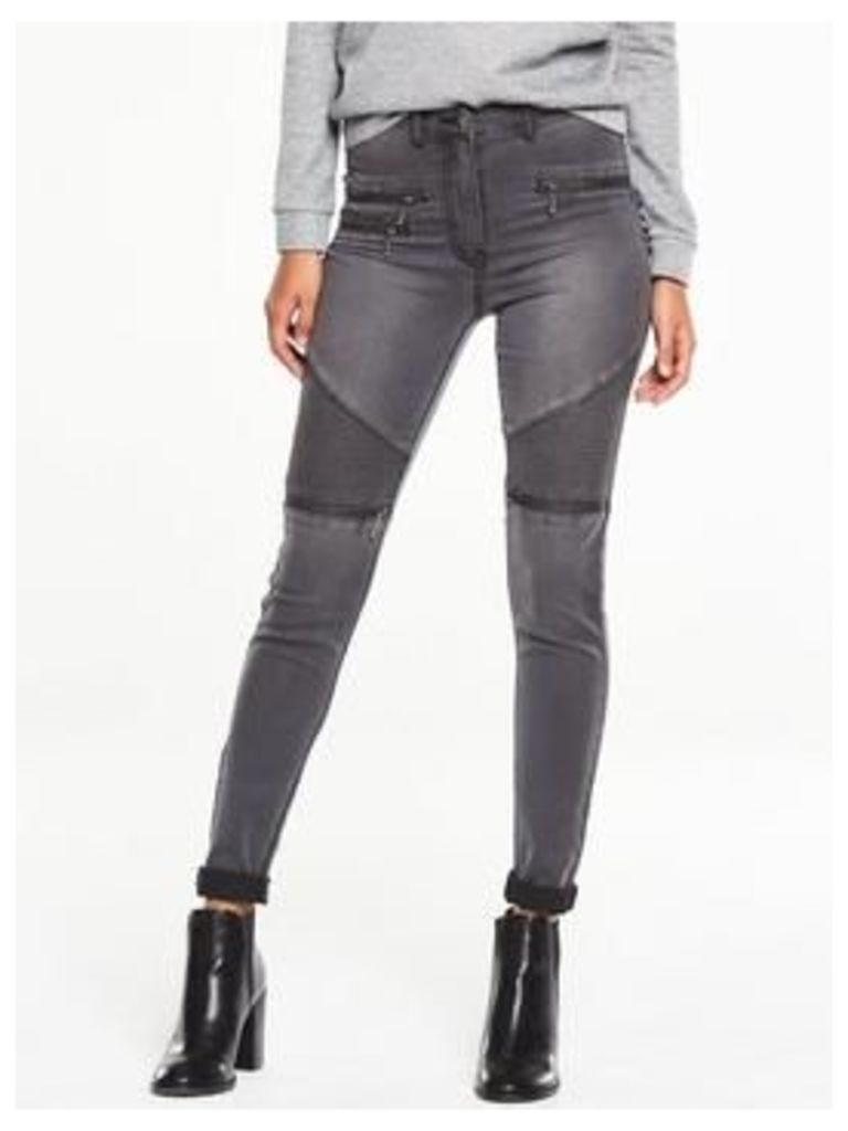 V By Very High Waisted Biker Jean
