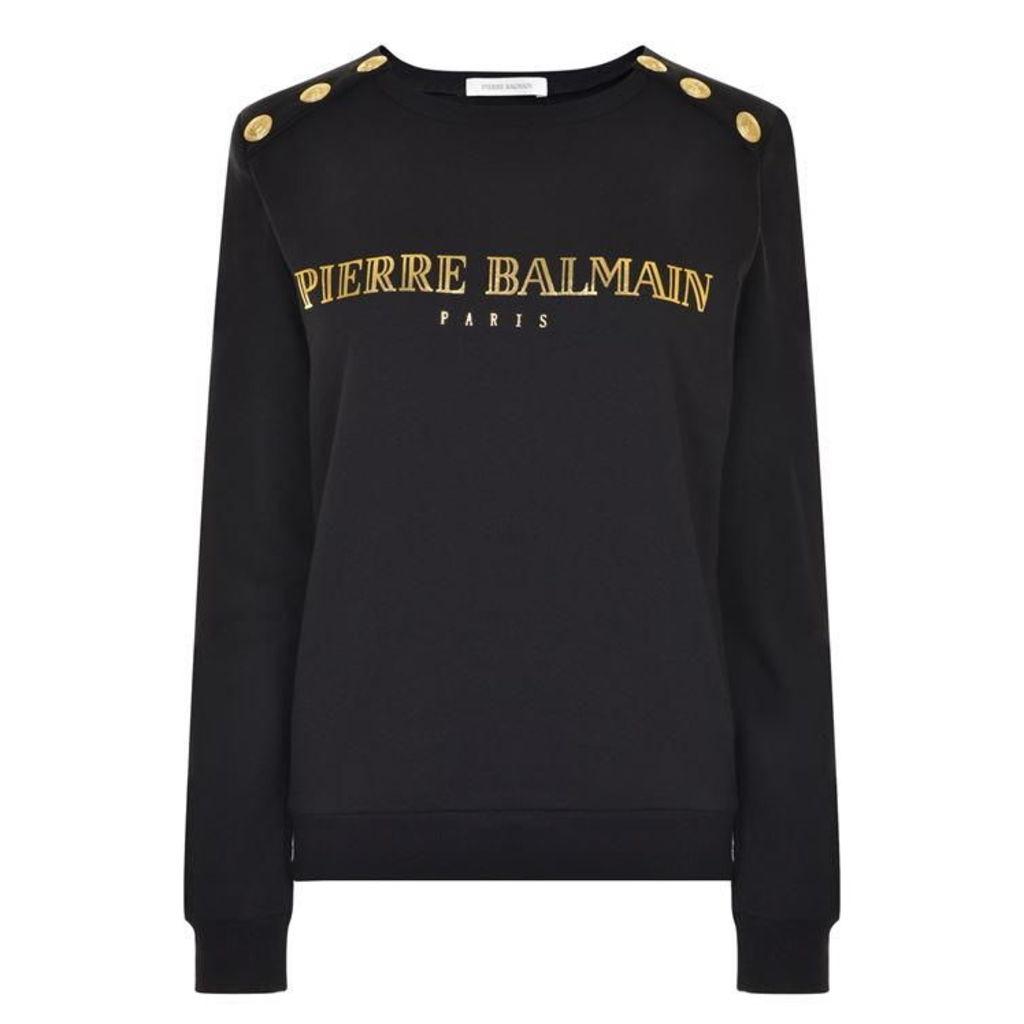 PIERRE BALMAIN Logo Crew Sweatshirt