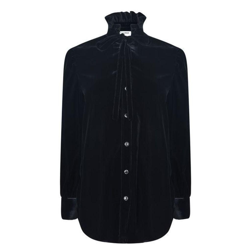 SAINT LAURENT Velvet Shirt