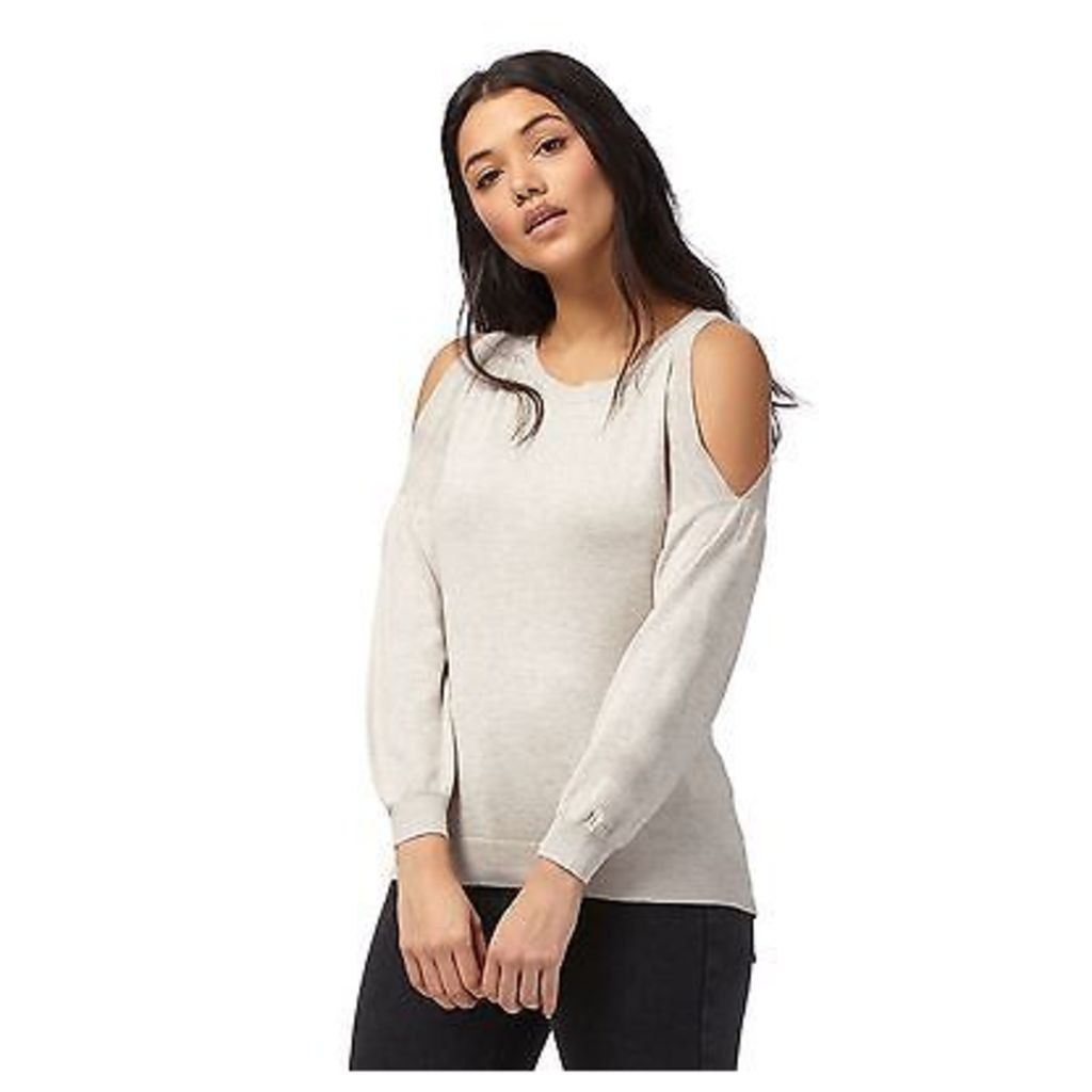 Red Herring Womens Natural Cold Shoulder Jumper From Debenhams