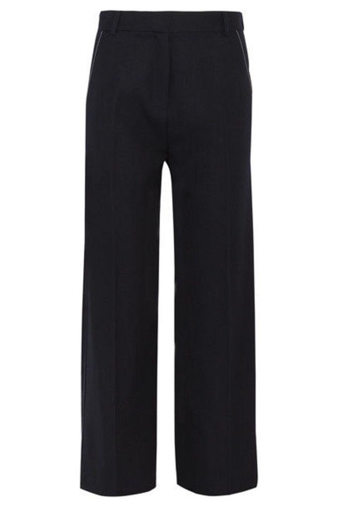 Topshop Unique - Hutton Wool-twill Wide-leg Pants - Navy