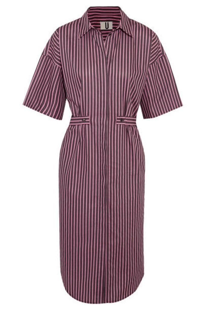 Topshop Unique - Tiller Oversized Striped Cotton Shirt Dress - Pink