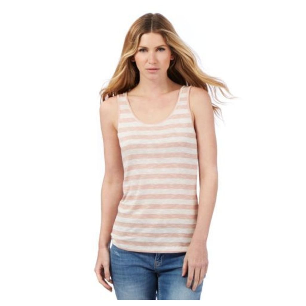 Nine By Savannah Miller Womens Pale Pink And Grey Striped Vest From Debenhams