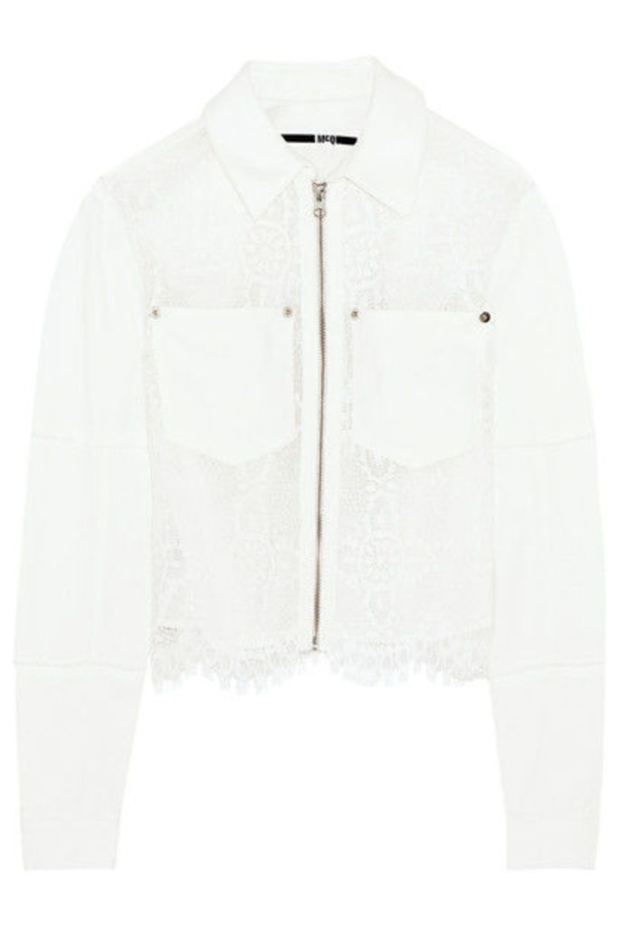 McQ Alexander McQueen - Denim And Lace Jacket - Ivory