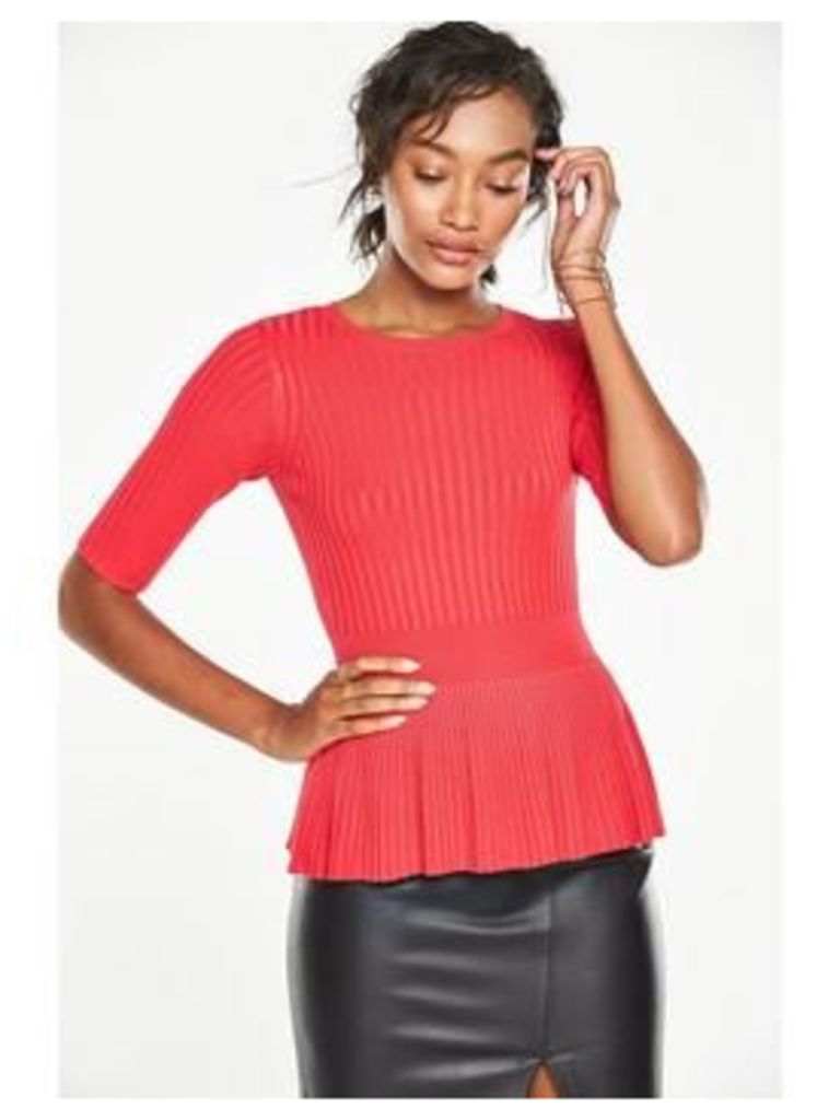 V By Very Peplum Knit Jumper