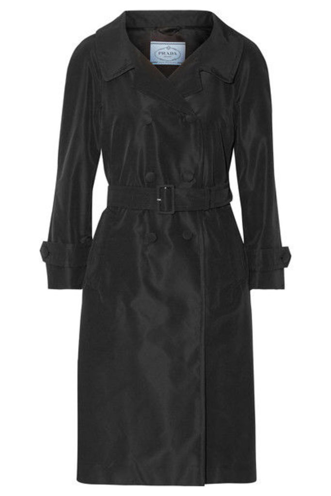 Prada - Silk-faille Trench Coat - Black