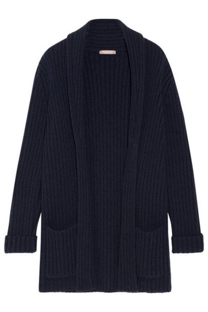 Michael Kors Collection - Oversized Ribbed Cashmere Cardigan - Navy