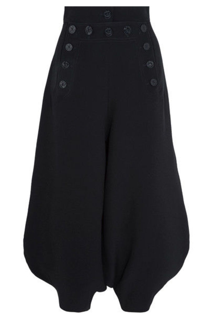 Chloé - Cropped Crepe Pants - Midnight blue