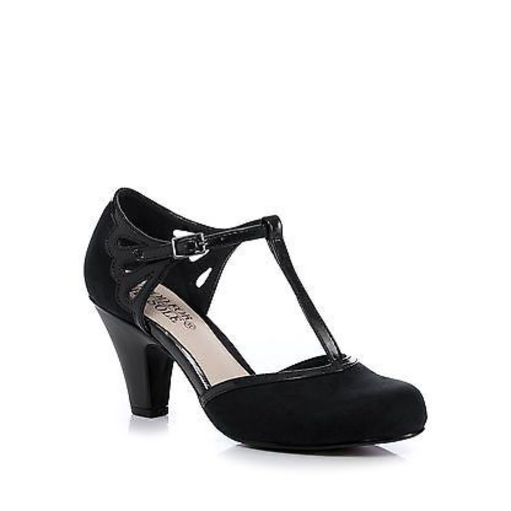 Good For The Sole Womens Black Cut-Out Wide Fit Mid Court Shoes From Debenhams