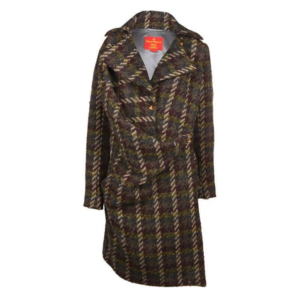 VIVIENNE WESTWOOD RED LABEL Tartan Cape Coat