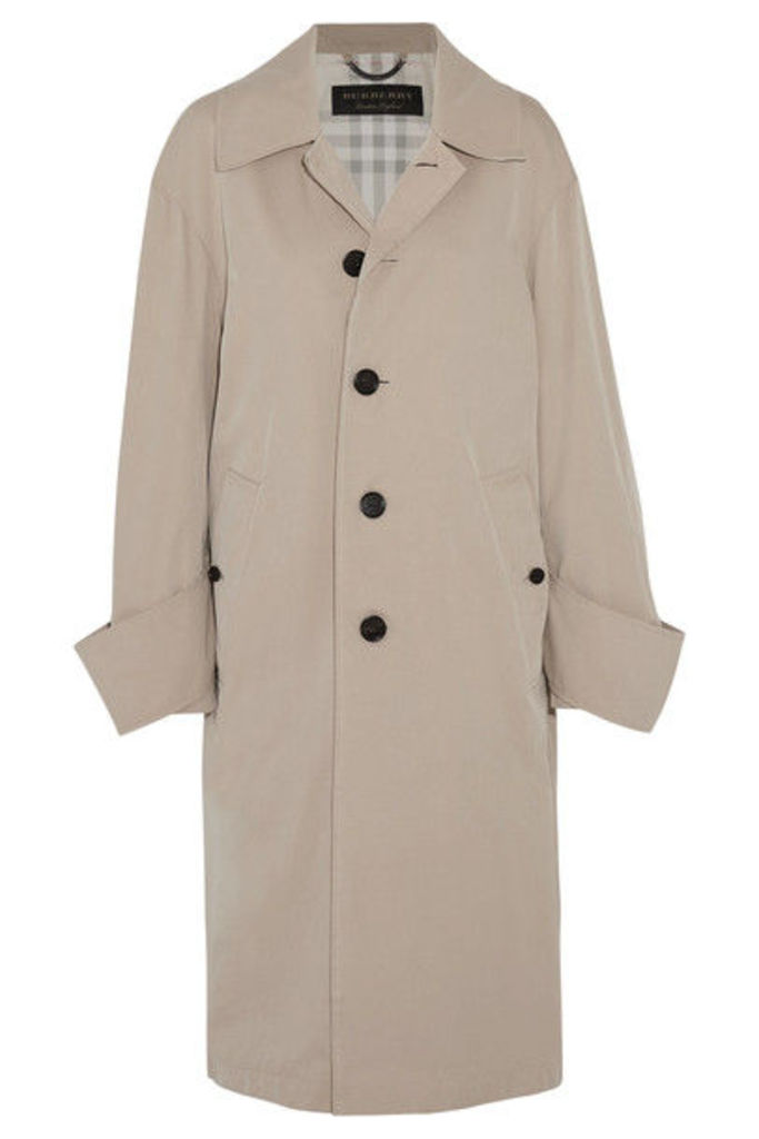 Burberry - Oversized Cotton-twill Coat - Beige