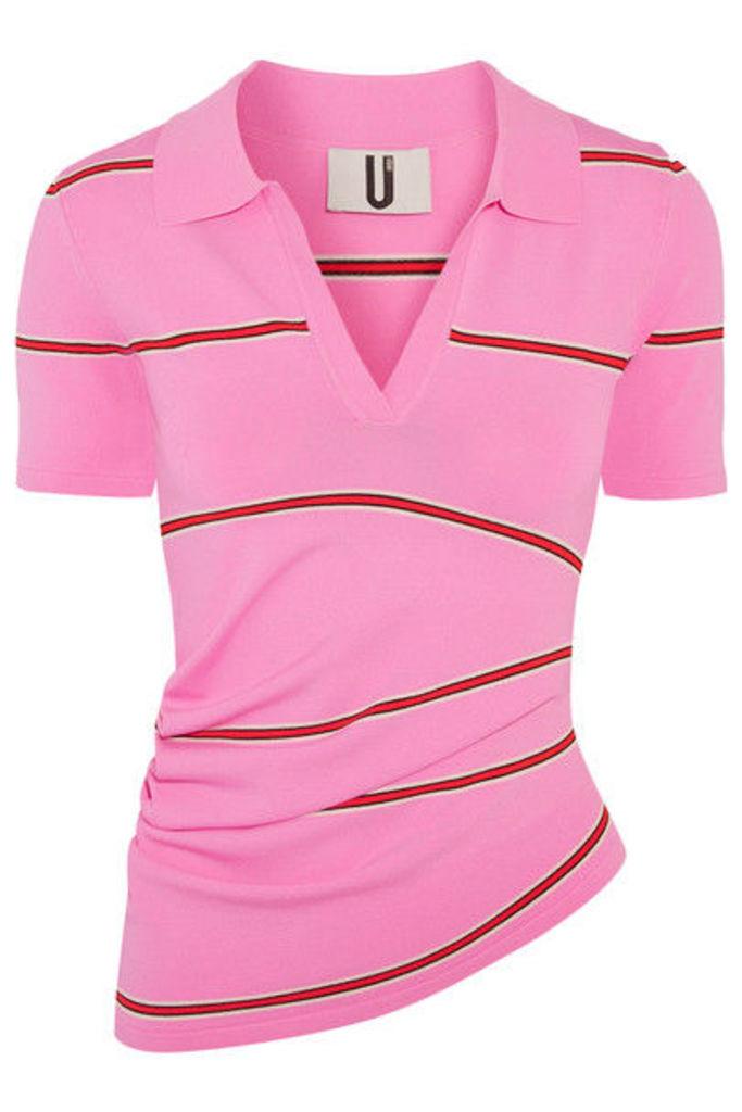 Topshop Unique - Margot Striped Stretch-knit Top - Pink