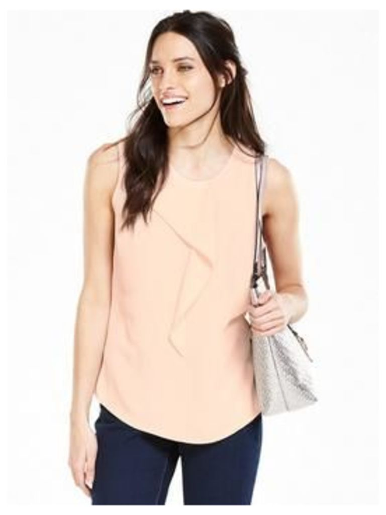 V By Very Frill Front Sleeveless Blouse